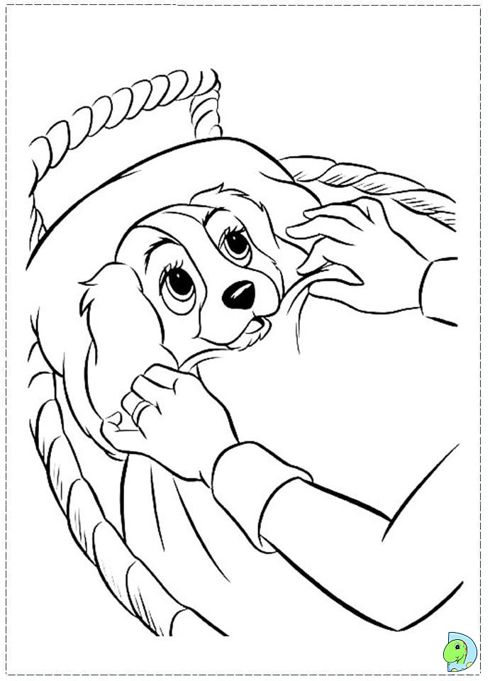 the lady and the tramp coloring page dinokidsorg
