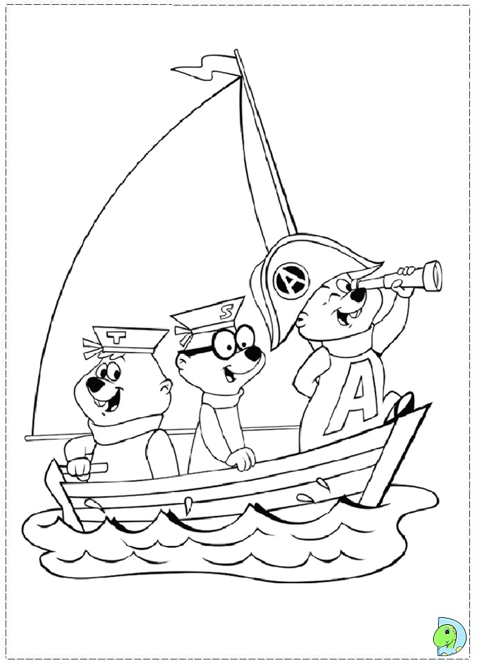 alvin and the chipmunks coloring page dinokids org