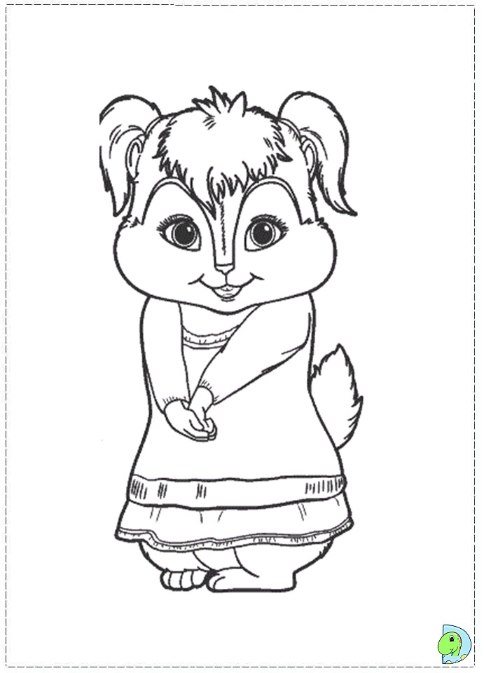free printable chipettes coloring pages - photo#14