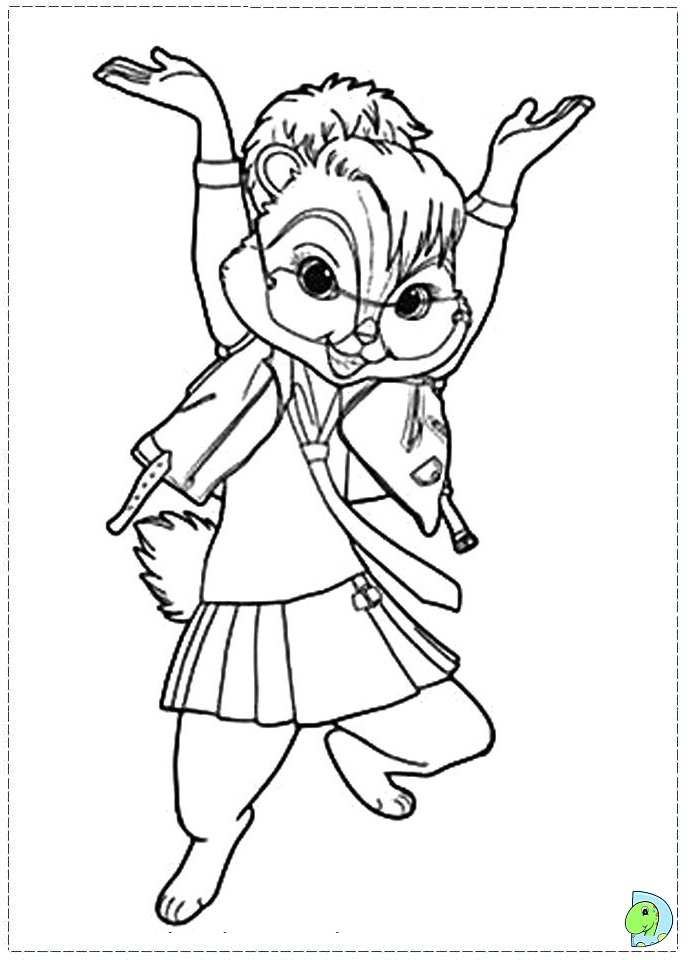 alvin and the chipmunks coloring pages pdf
