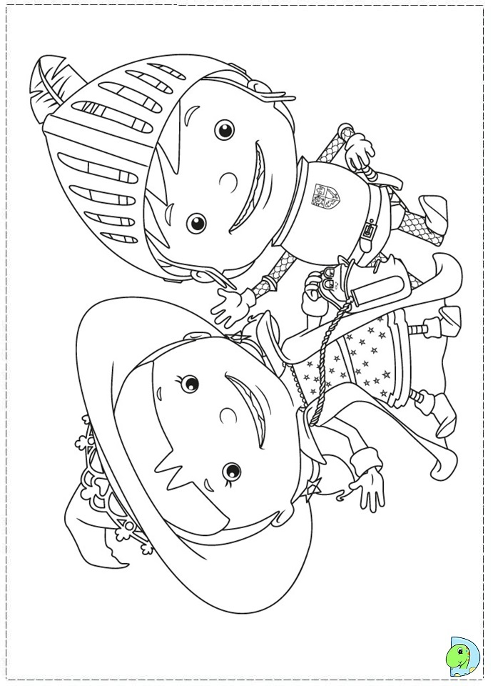 Mike The Knight Coloring Page Dinokids Org Mike The Colouring Pages