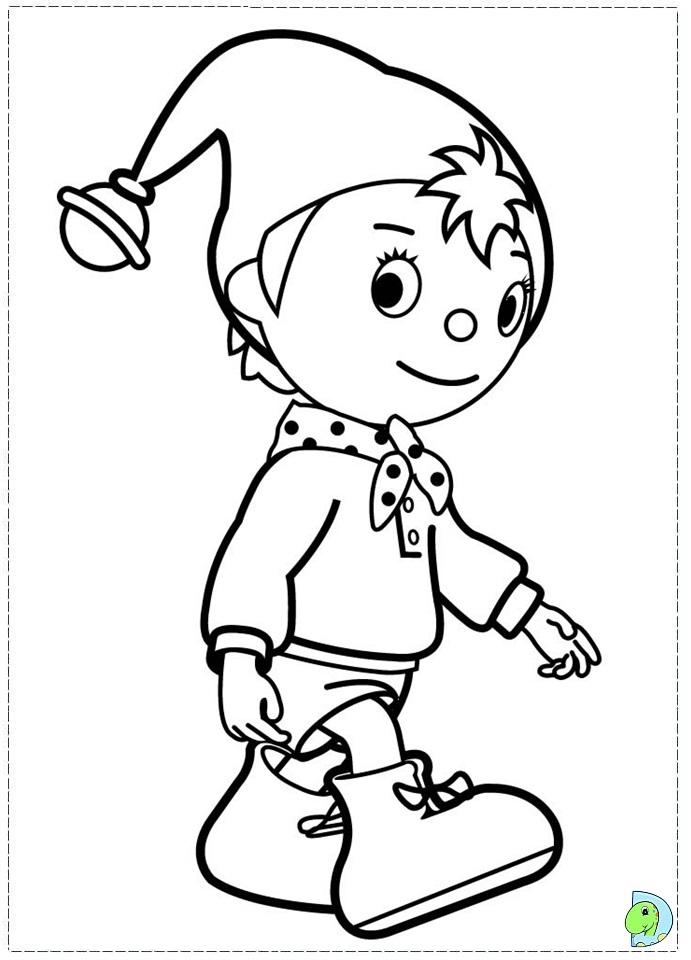 Noddy Coloring Page DinoKidsorg