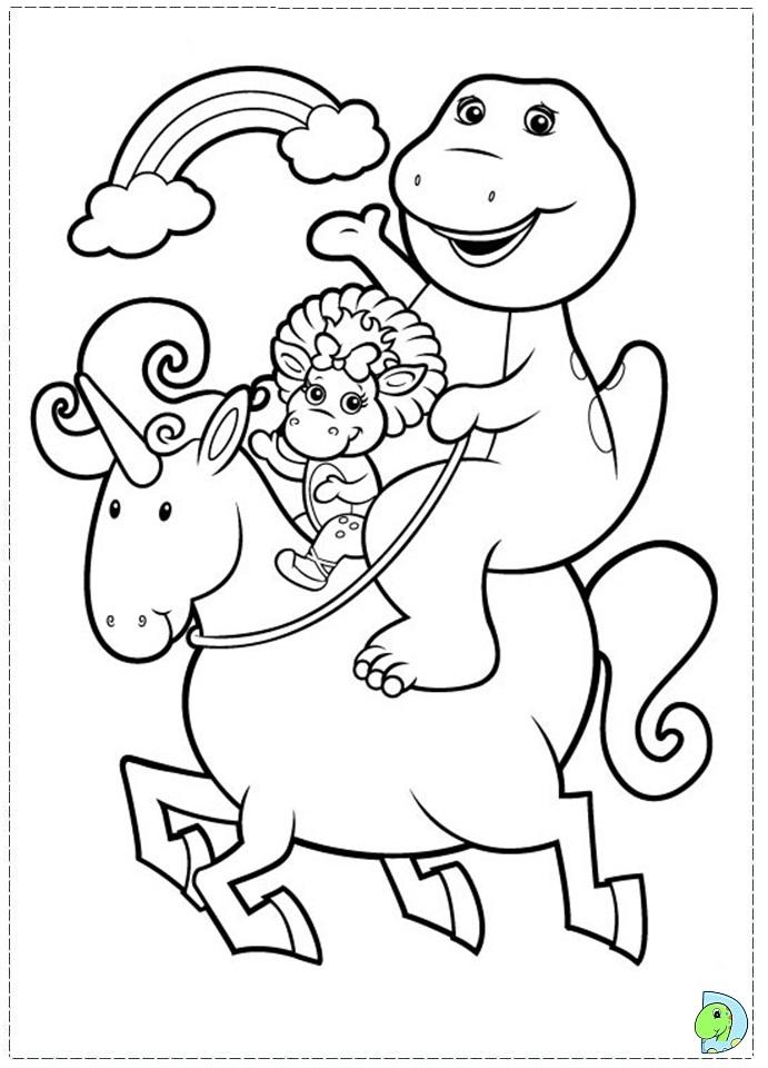 Barney Friends Coloring Dinokids