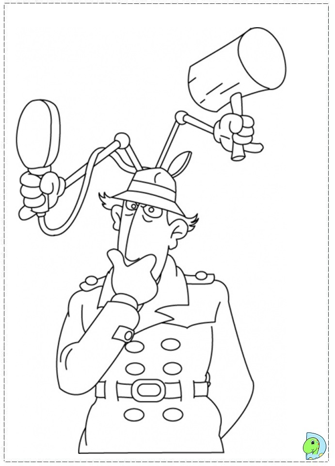inspector gadget coloring pages - photo#4