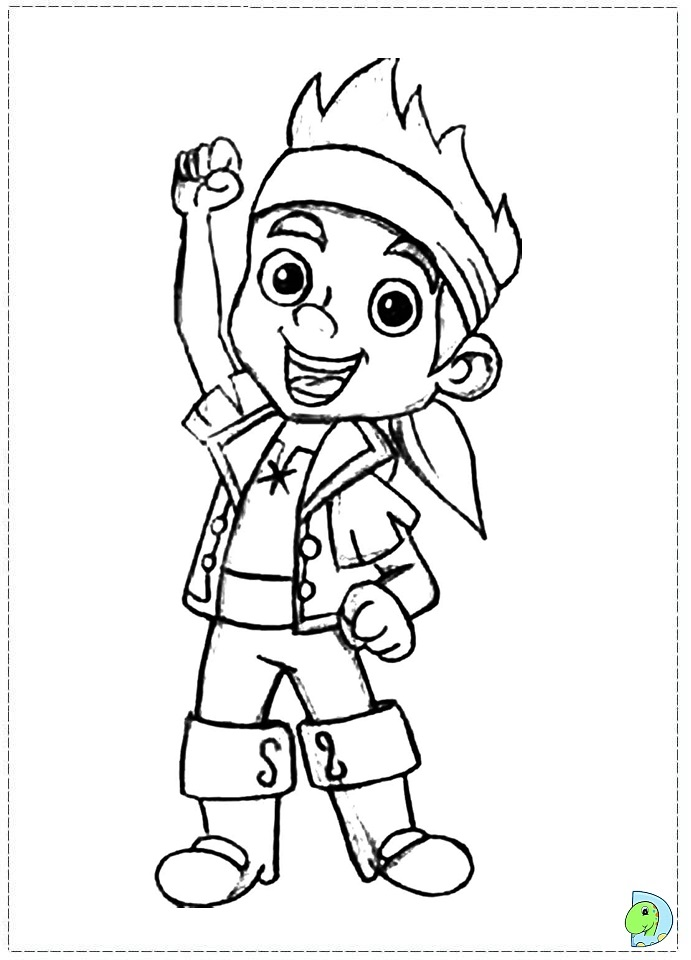 Jake And The Neverland Pirates Coloring Page Dinokids Org Jake The Pirate Coloring Pages