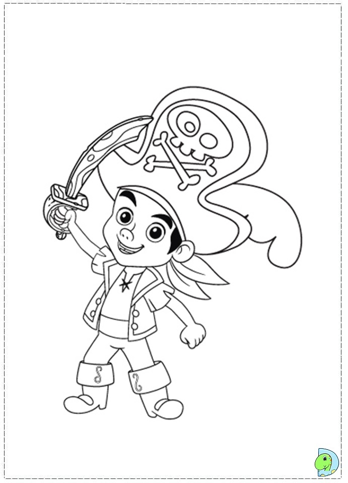 jake and the neverland pirates coloring page- dinokids.org - Jake Neverland Coloring Pages
