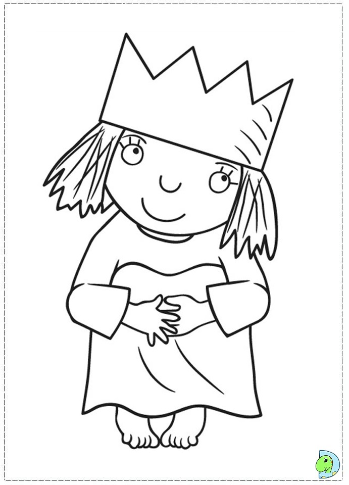 Little Princess Coloring Pages To Print : Little princess coloring page dinokids