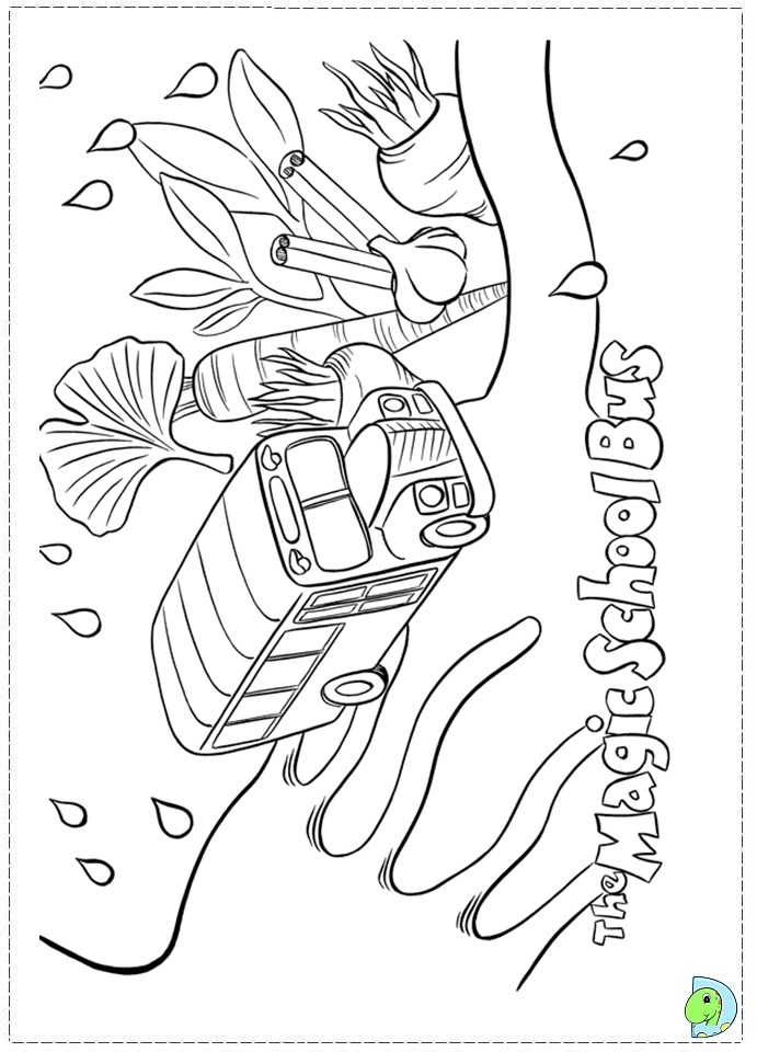 The Magic School Bus coloring page DinoKidsorg