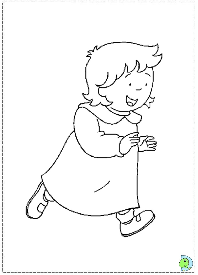 caillou coloring page dinokidsorg