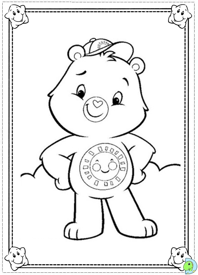 Holiday Coloring Pages care bear coloring pages : Care Bears coloring page- DinoKids.org