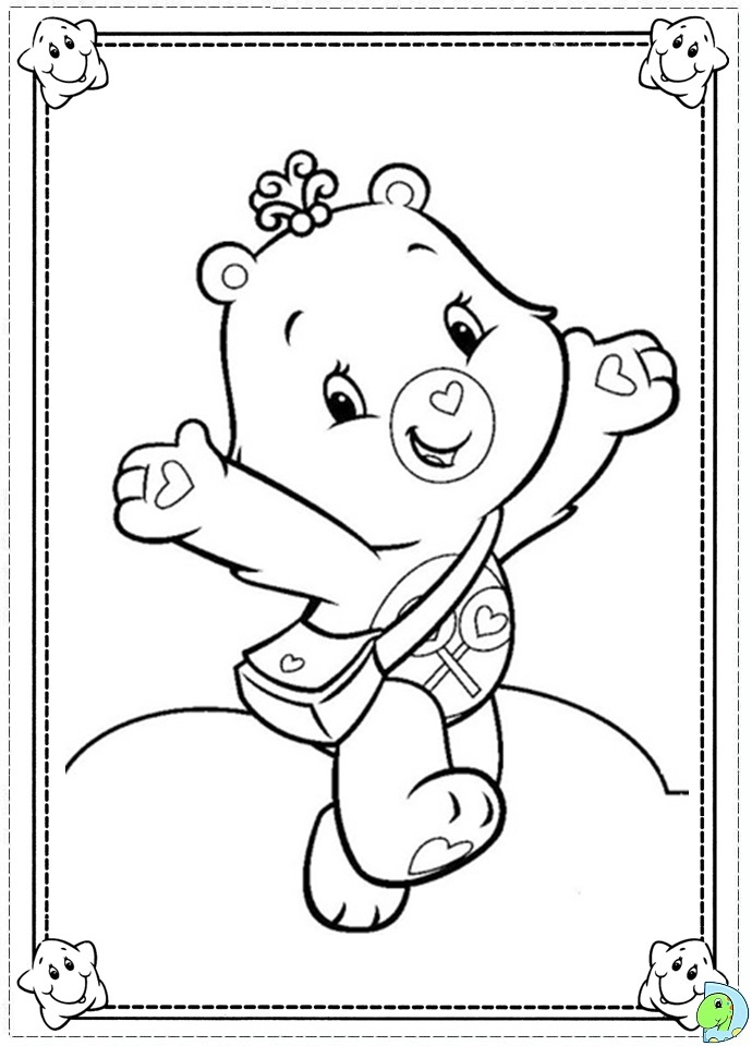 care bears coloring pages oopsy - photo#19