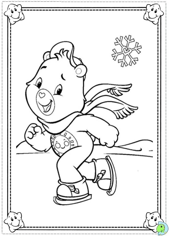 Care Bears Coloring Page DinoKidsorg