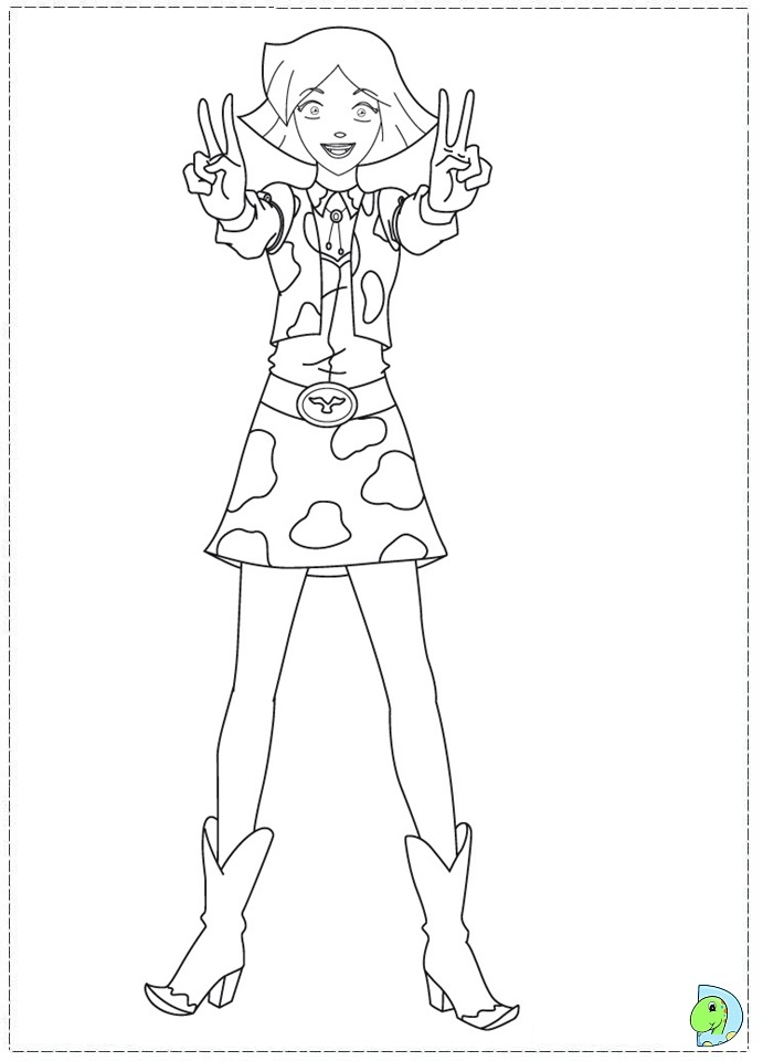 coloring pages of totally spies - photo#14