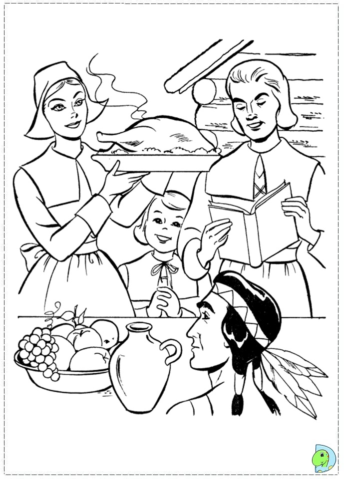 Online coloring Thanksgiving Turkey coloring game