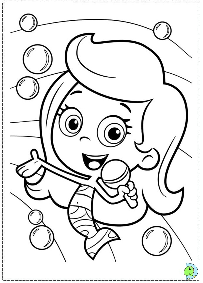 molly bubble guppies coloring pages - photo #31