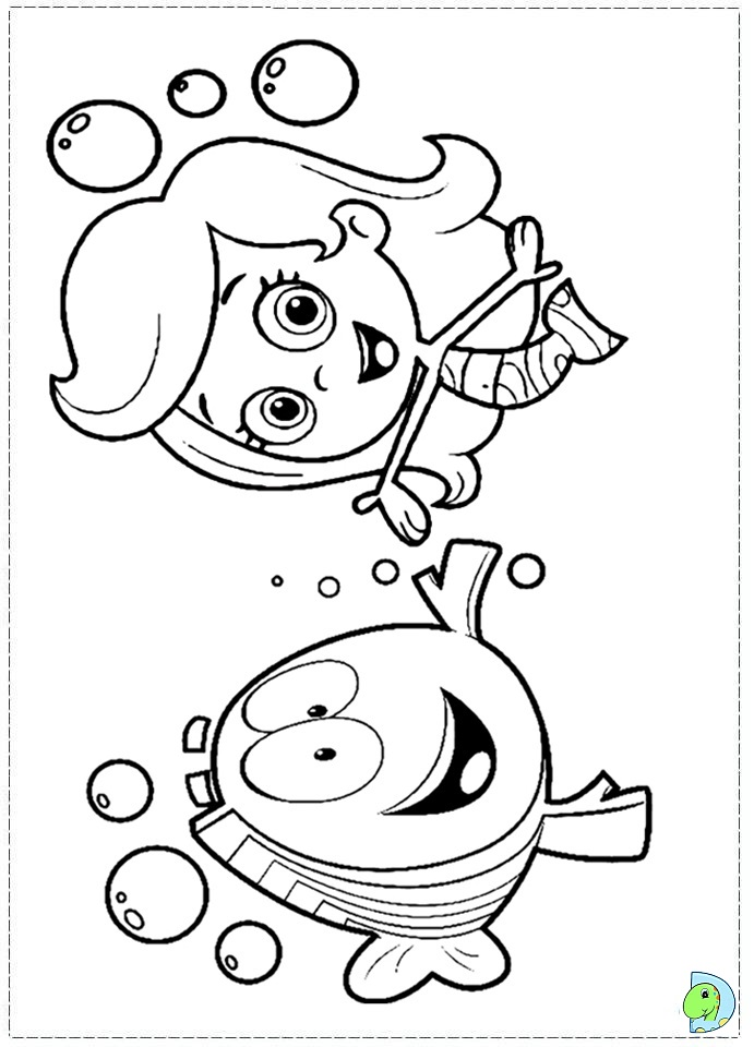 Free Bubble Guppies Mr Grouper Coloring Pages