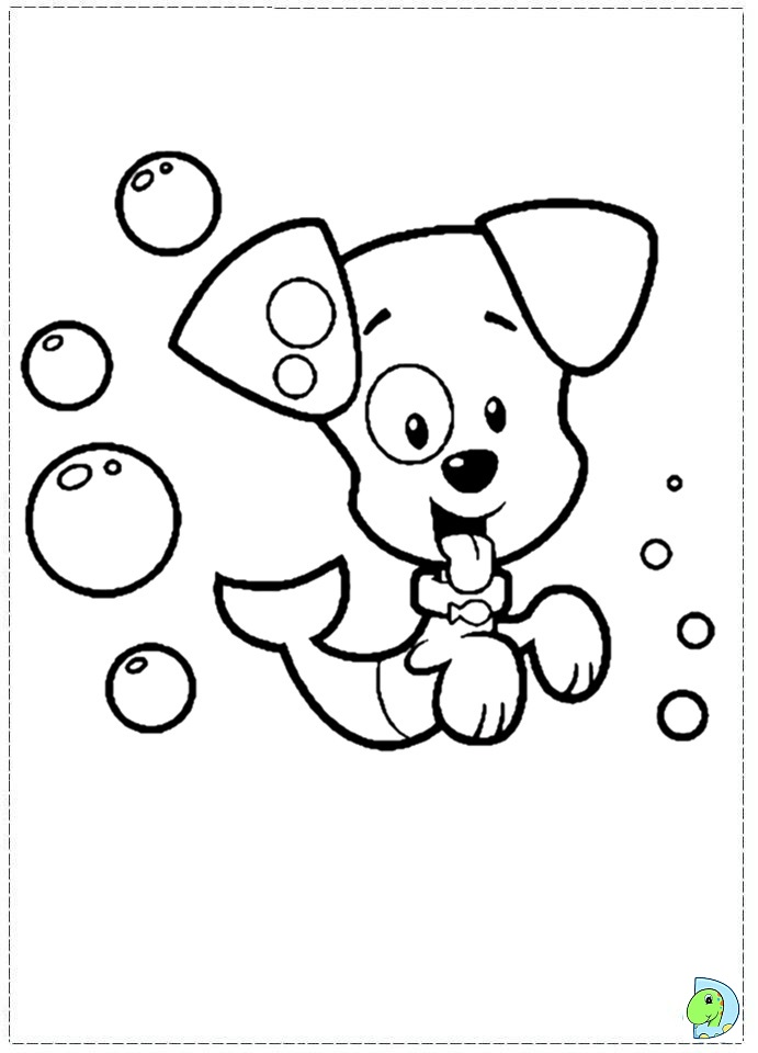bubble guppies coloring print pictures Nonny Bubble Guppies Coloring Pages  Bubble Puppy Coloring Page