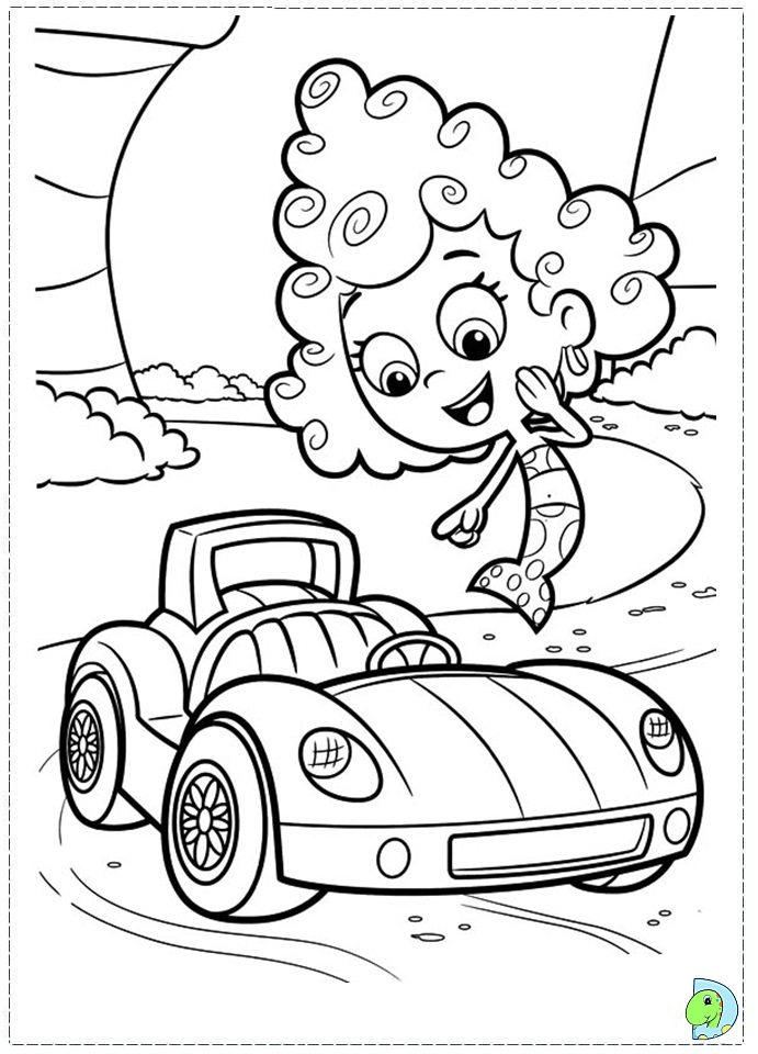 Bubble Guppies Coloring Page Dinokids Org Children Guppies Coloring Pages