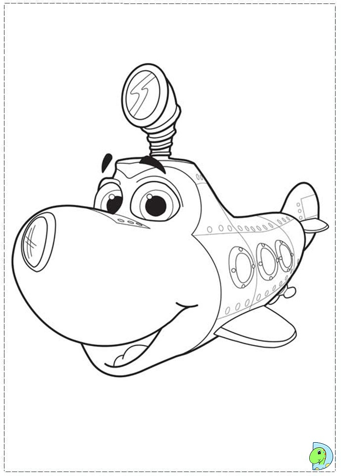 dive olly dive coloring page dinokidsorg