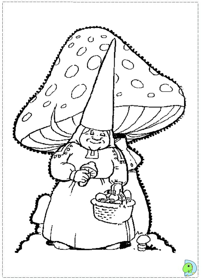 David the gnome coloring page for Garden gnome coloring pages