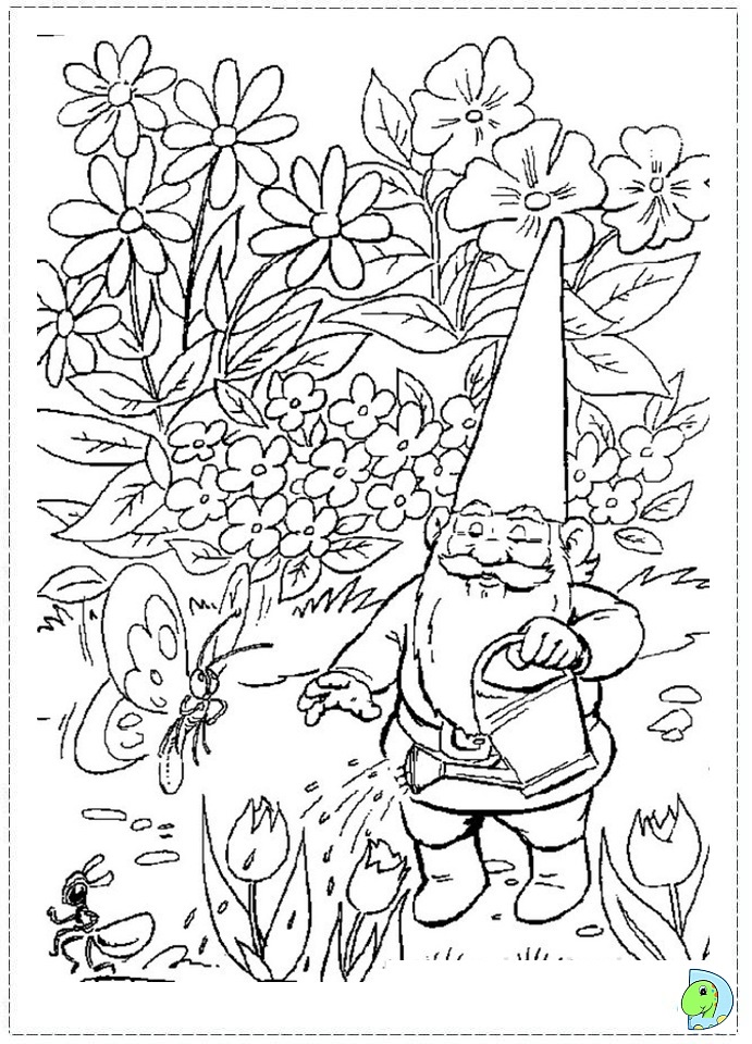 Printable Gnome Coloring Pages Sketch Coloring Page