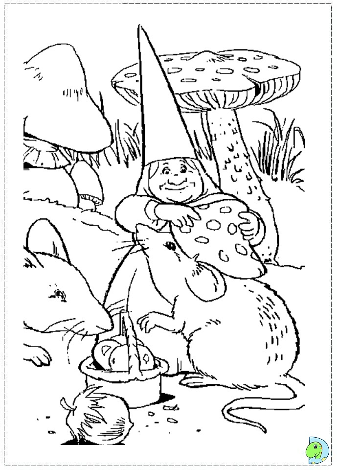 david the gnome coloring page dinokidsorg