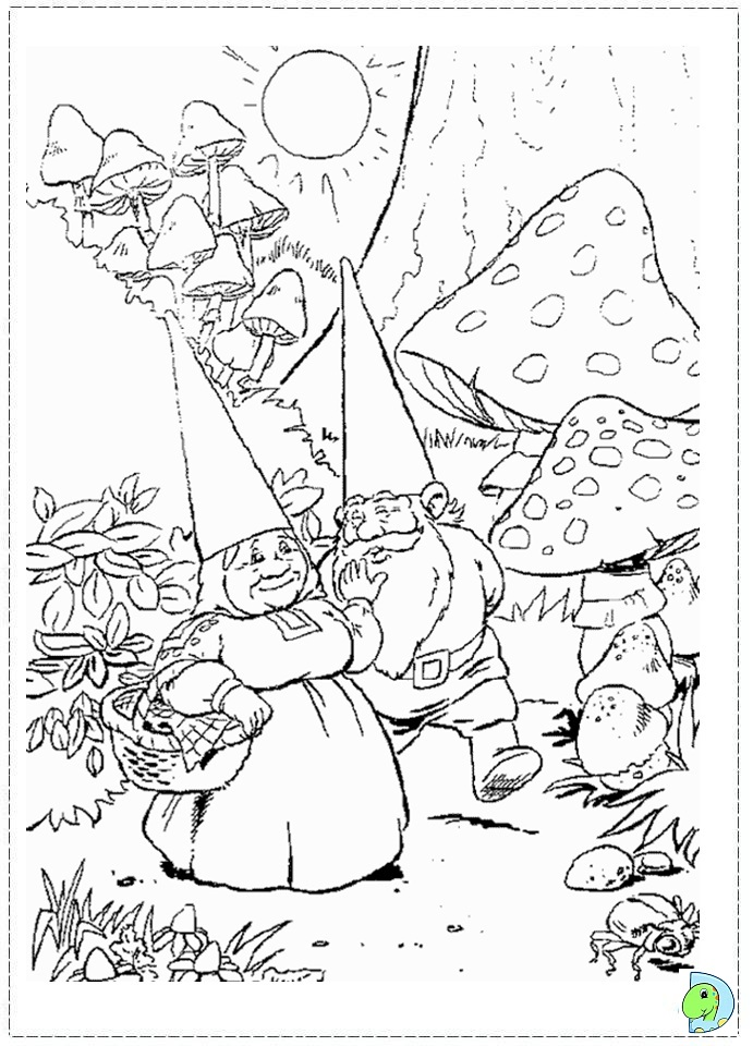 David the Gnome Coloring page- DinoKids.org
