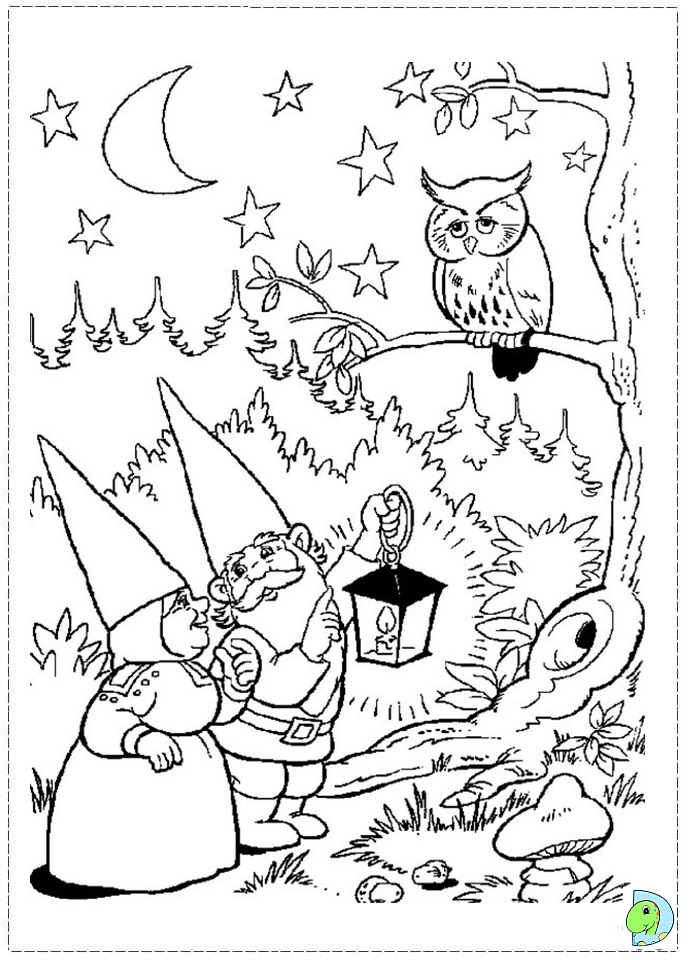 garden gnome coloring pages - funny gnome coloring coloring pages
