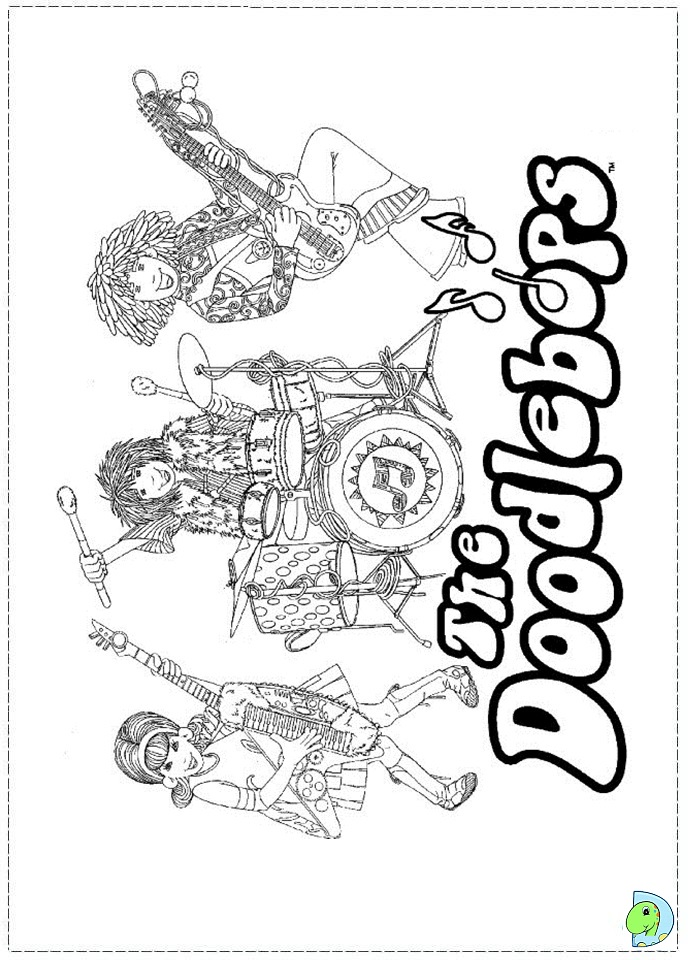 printable doodlebop coloring pages - photo#8