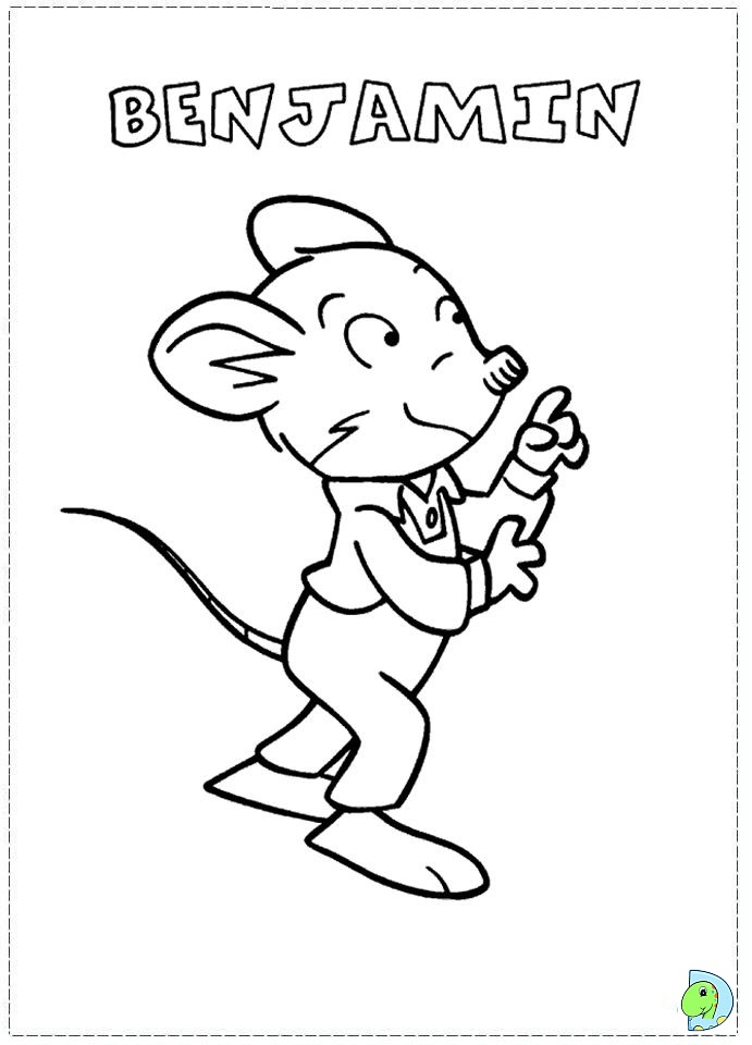 Geronimo Stilton Coloring Page Dinokids Org Geronimo Stilton Colouring Pages