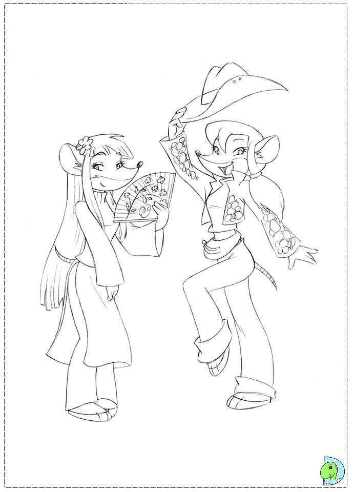 Geronimo Stilton Pages Coloring Pages Geronimo Stilton Colouring Pages