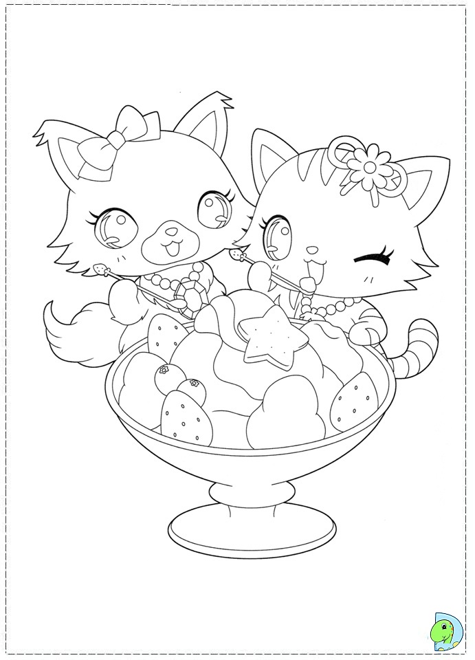 Jewelpet ColoringPages 04