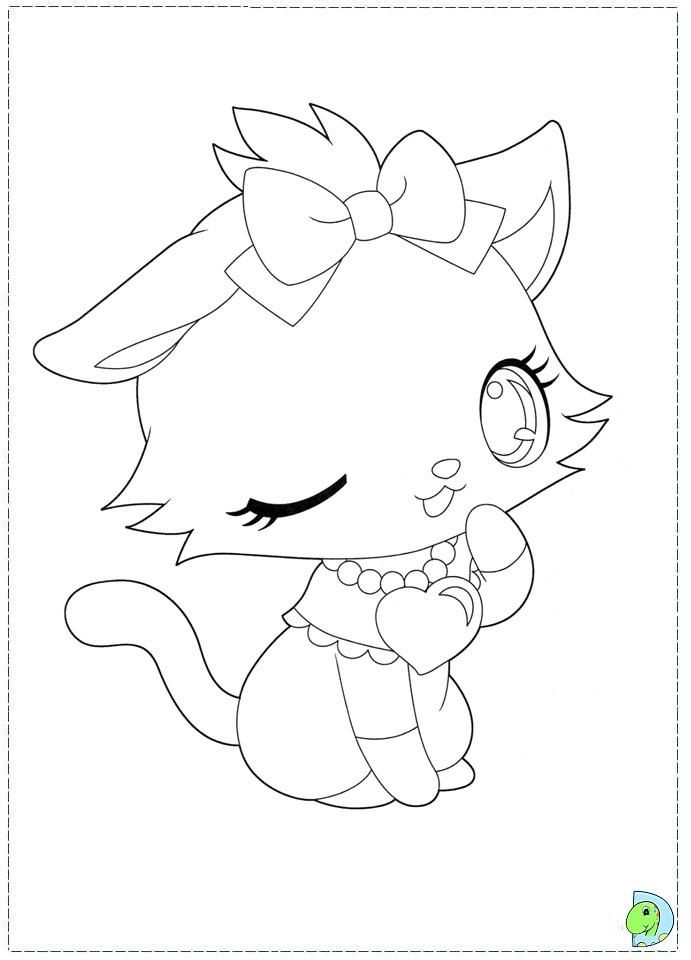 Colorea una gata bonita