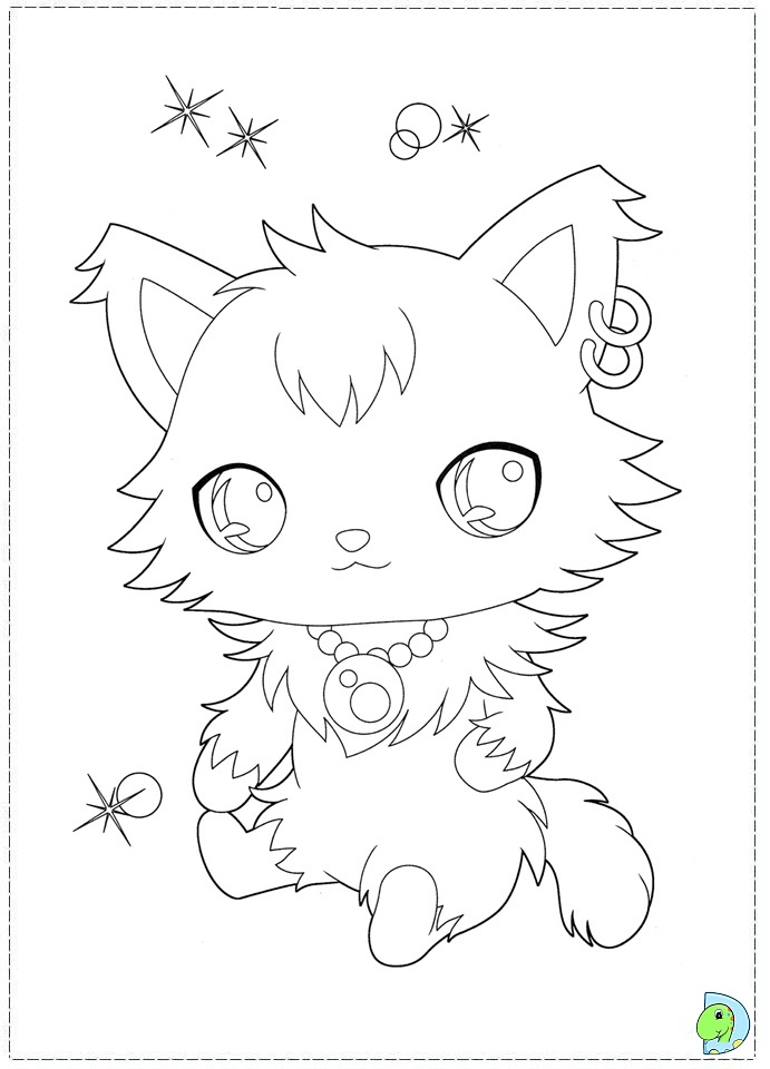 Jewel Pet Drawing Jewelpet Coloring Page