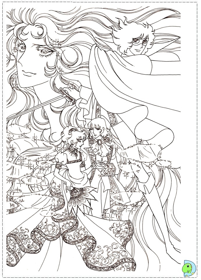 Lady Oscar Coloring Page Dinokids Org