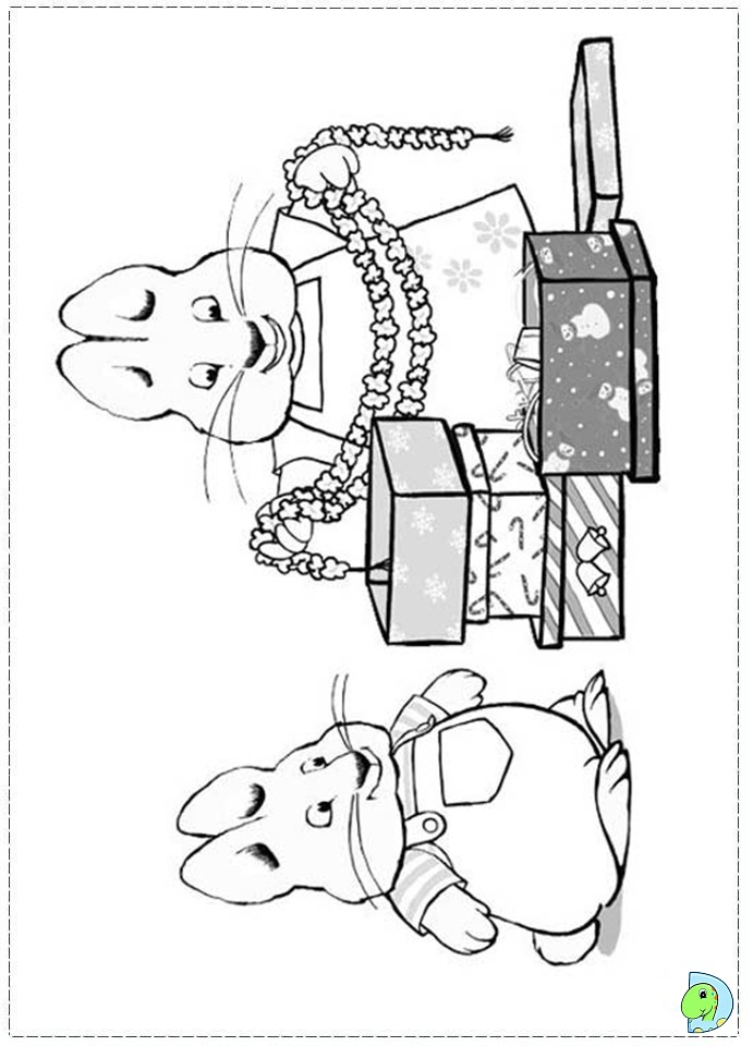 Max And Ruby Coloring Page DinoKidsorg