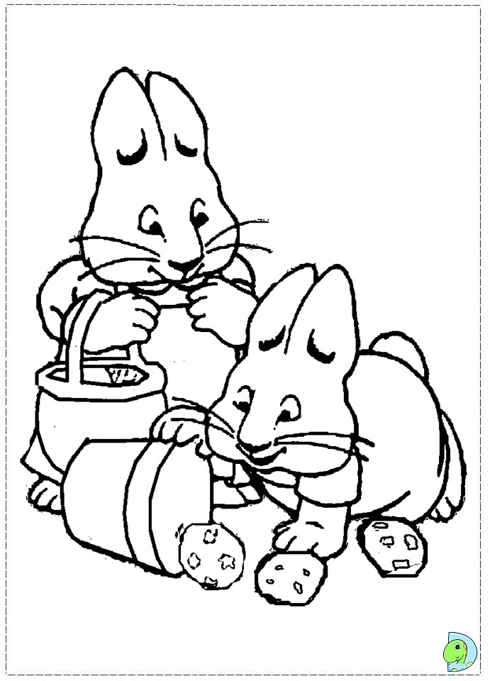 Max And Ruby Coloring Page Dinokids Org Max And Ruby Coloring Pages Printable
