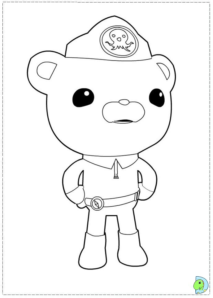Free Coloring Pages Of Octonauts Gup D