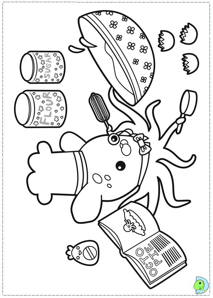 octonauts mask colouring pages