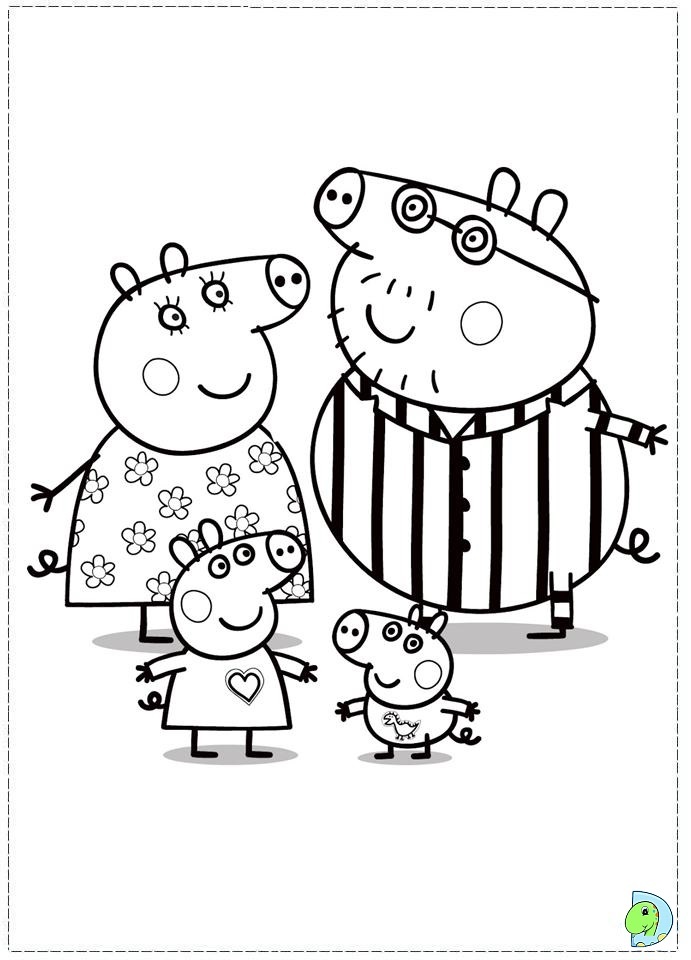 Free Coloring Pages Of Peppa Pigs