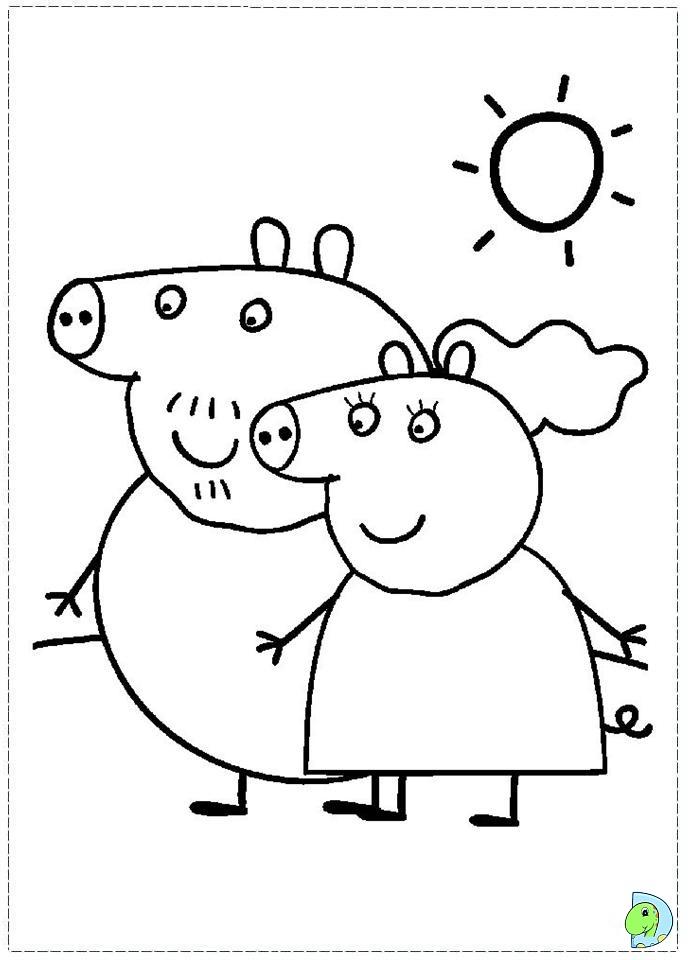 Раскраски свинки распечатать бесплатно