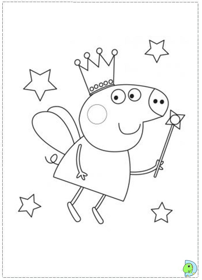 Coloring Pages To Print Peppa Pig : Peppa pig coloring page dinokids