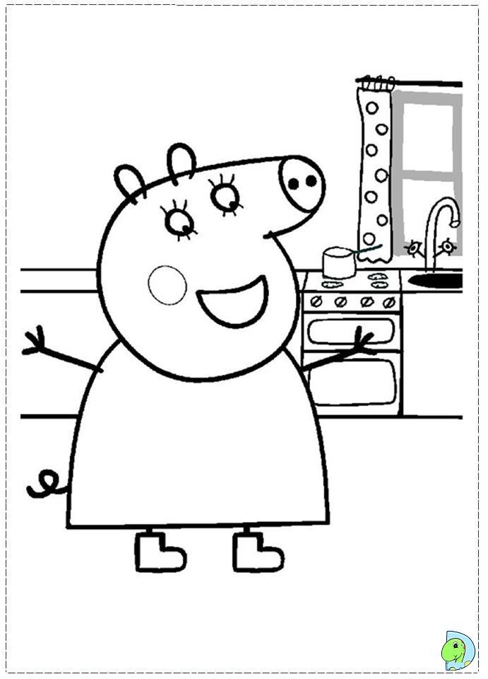 Nick Jr Peppa Pig Coloring Pages