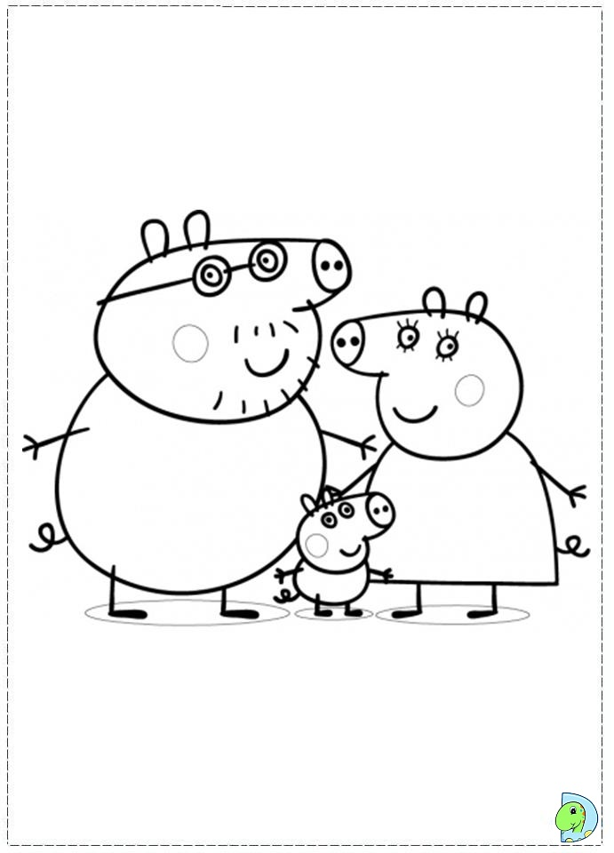 Coloring Peppa Pig_Peppa Pig Holiday Coloring_Coloring Pig 点击 ...