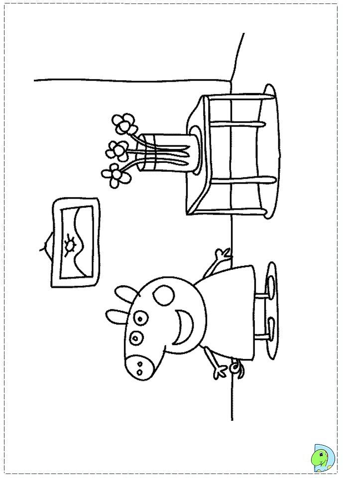 Peppa Pig Coloring page- DinoKids.org