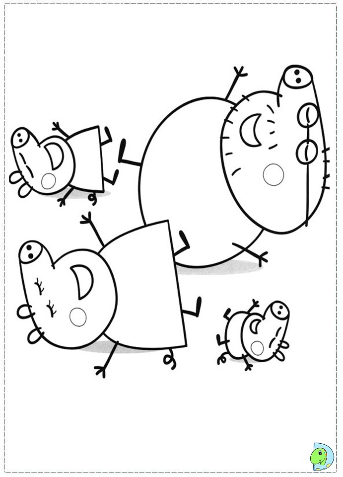 peppa colouring pages