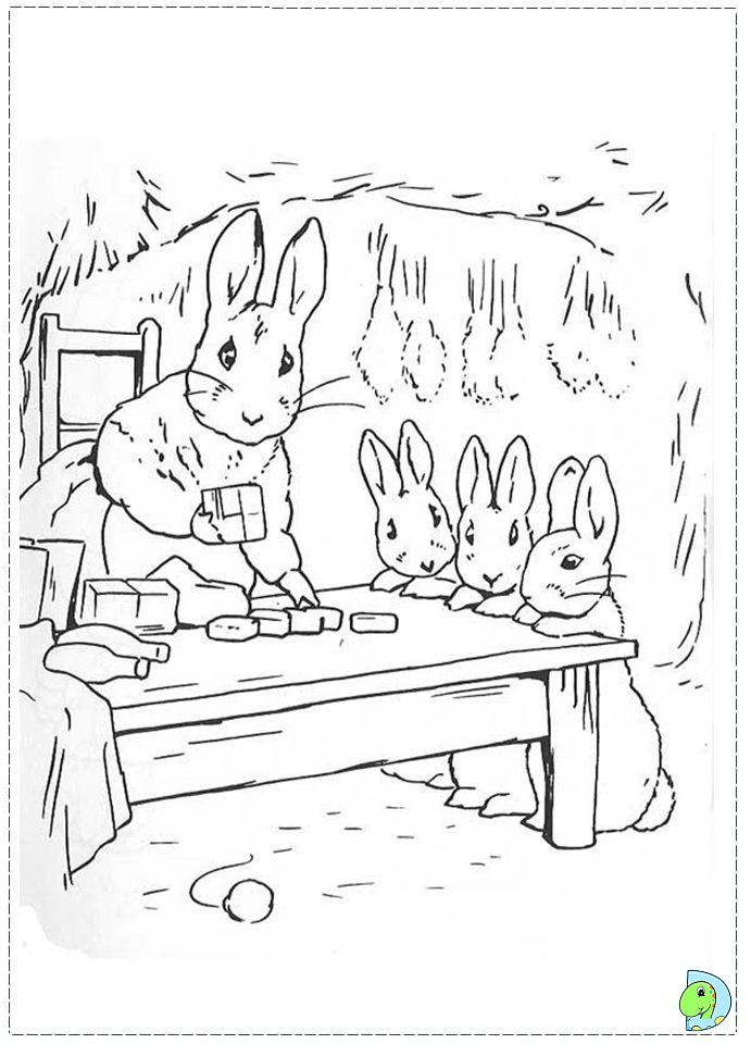 peter rabbit coloring page dinokidsorg