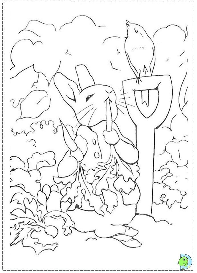 Peter Rabbit Coloring page DinoKids
