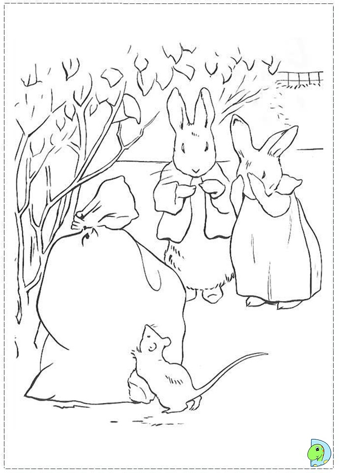 peter rabbit cartoon coloring pages - photo#26