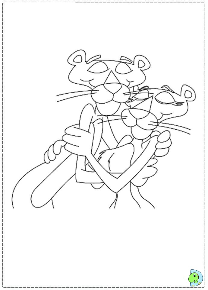 The Pink Panther Coloring Pages